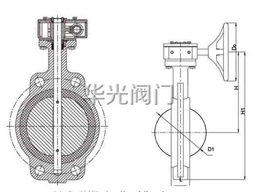 d371x对夹式涡轮蝶阀图片